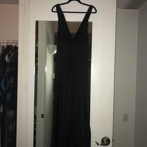 Zara Black Deep V Evening Gown, Size 2